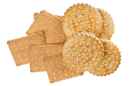 aliments: Biscuit isolated on white background