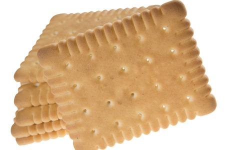 aliments: Biscuits sur fond blanc Banque d'images