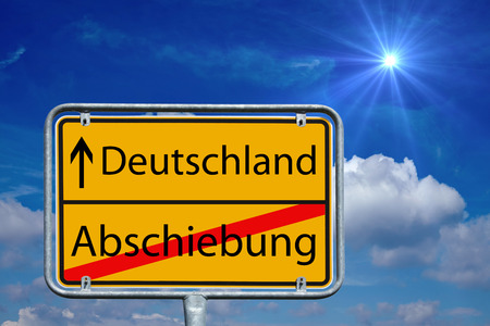 deportation: sign with the german words Germany and deportation Stock Photo