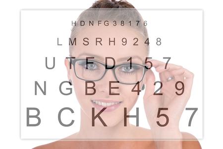 woman wearing glasses: pretty woman wearing glasses