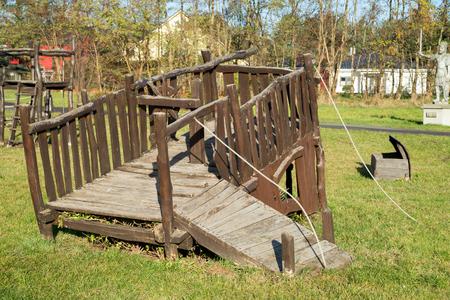 children play area: Playground of wood for children