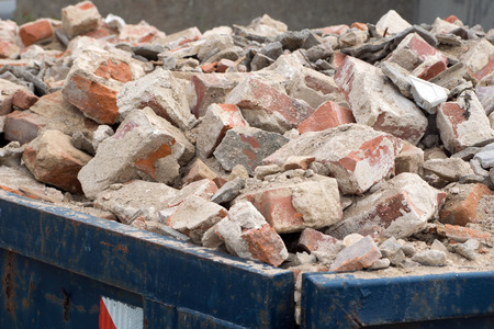 rubble: Container full of Building rubble and stones