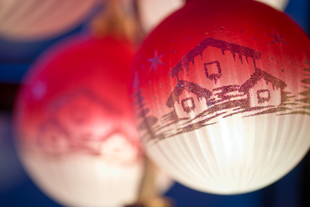 christmas motif: luminous ball with Christmas motif