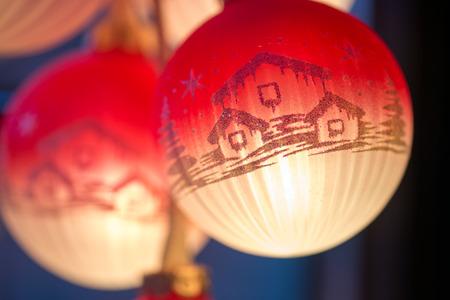 christmas motive: luminous ball with Christmas motif
