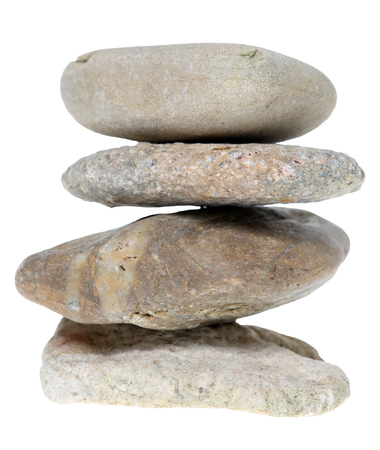 exempted: many Stones isolated over a white background Stock Photo