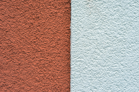 bicolor Roughcast on a wall