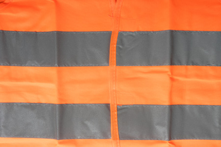 reflective: Safety vest with reflective stripes Stock Photo