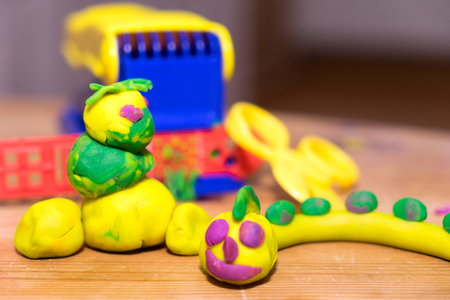 modeling: tinkered works from modeling dough