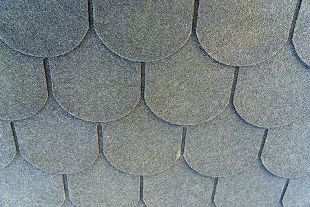shingles: las tejas del techo en un techo Foto de archivo