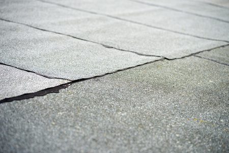 covered flat roof with roofing felt