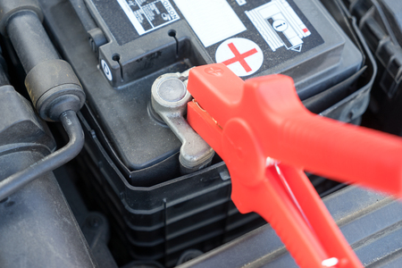starter: Car battery and starter booster cable