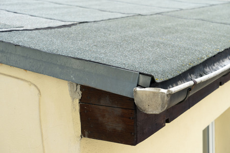 roofing felt: covered flat roof with roofing felt