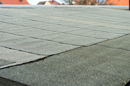 flat roof: covered flat roof with roofing felt