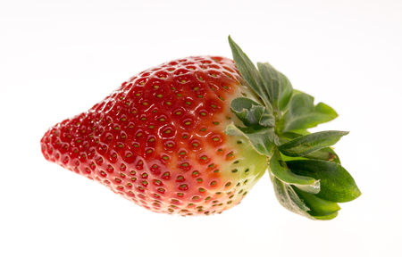 biologically: Closeup of a red strawberry Stock Photo