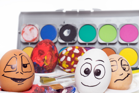 funny easter: funny easter eggs and color palette