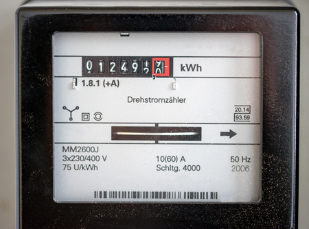 electricity prices: Close up of a electricity meters Editorial