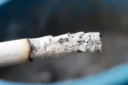 smoldering: smoldering cigarette in an ashtray