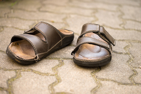 and worn out: old worn out slippers