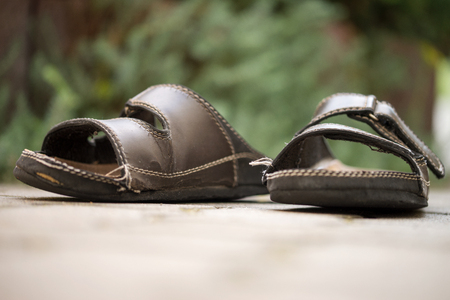 worn: old worn out slippers