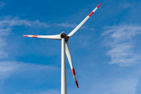 electricity prices: Wind turbine and blue sky