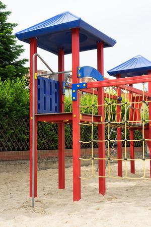 rope bridge: Playground with rope bridge to climb for children