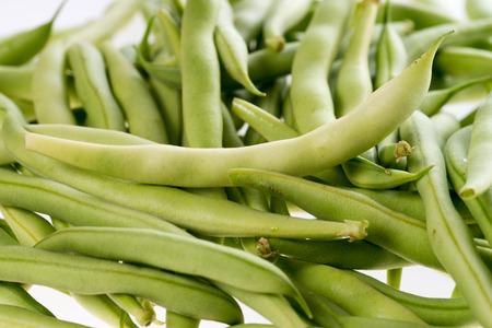 judia verde: muchos judías verdes recién cosechadas