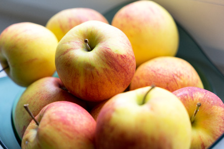 vitamin rich: many red and yellow apples
