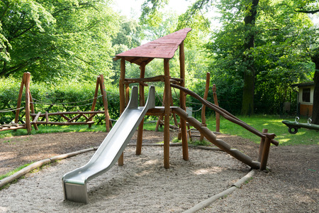 romp: Playground with sandpit and slide