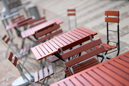 seating area: Seating area in a city