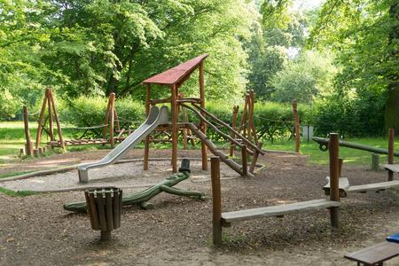 sandpit: Playground with sandpit and slide