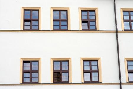 many windows: House Front with many windows