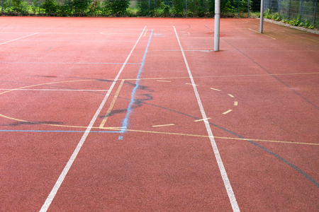 boundaries: Sports field with lines and boundaries