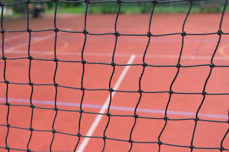 volleyball net: Sports field with volleyball net Stock Photo