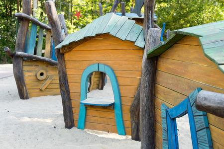 romp: Playground with sandbox for children