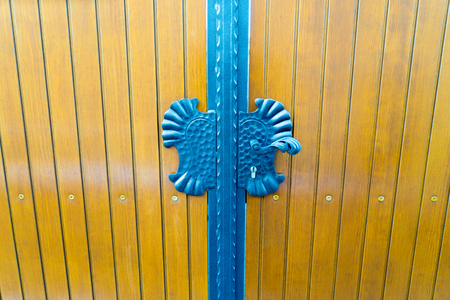 new entrance gate with metal fittings