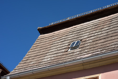 old roof with roof tile