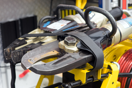 clamped: hydraulic shears from the fire brigade