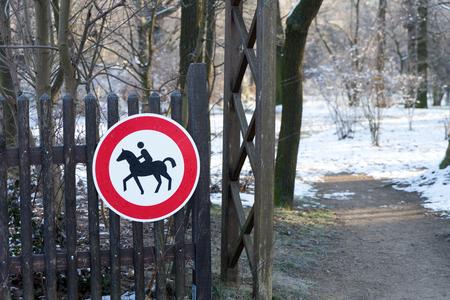 sign forbidden for horses