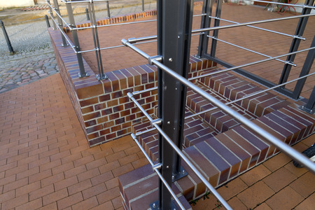 new railing made of stainless steel Standard-Bild - 100717060