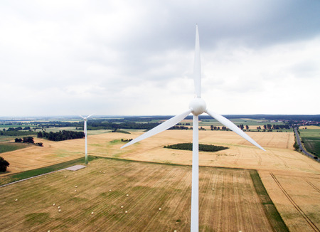 aerial view of a wind turbine Standard-Bild - 103313426