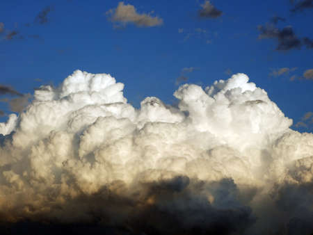 A large white cloud before the storm and sunset, Velika - Slavonia region, Croatia