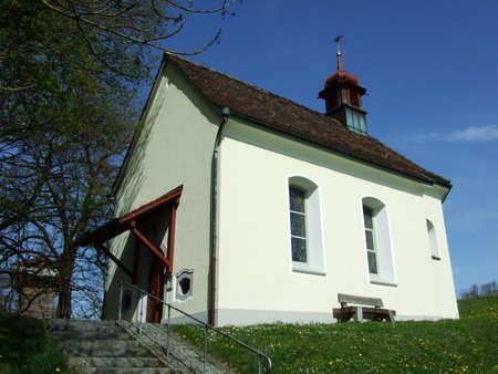 Old Christian Chapel in city of St. Gallen, Switzerland