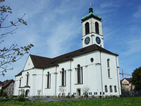 Old christian church in city of Gossau (Canton St. Gallen, Switzerland) Archivio Fotografico