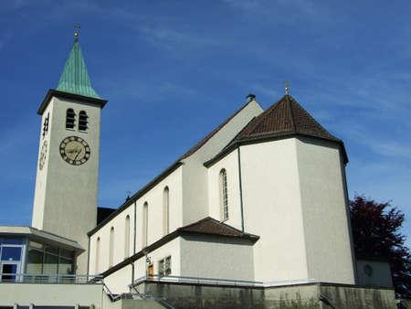 Old christian church in city of Herisau (Canton Appenzell Ausserrhoden, Switzerland) Archivio Fotografico