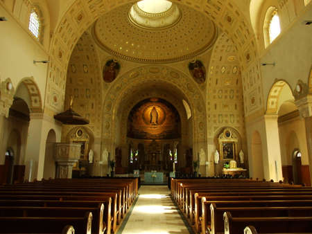 The interior of the Catholic Parish Church of St. Mary Neudorf, St. Gallen Editoriali