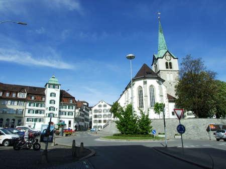 Old christian church in city of Herisau (Canton Appenzell Ausserrhoden, Switzerland) Editoriali