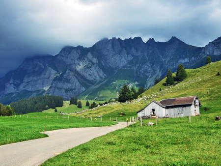 Alps architecture and farms of the Obertoggenburg region - Canton St. Gallen, Switzerland