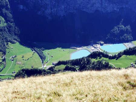 Lakes from Hydro Power Plant ARGE Kraftwerk Limmern - Canton of Glarus, Switzerland 版權商用圖片