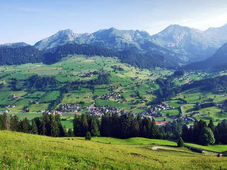 Unterwasser settlement in the river Thur valley - Canton of St. Gallen, Switzerland