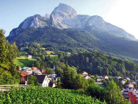 Gonzen mountain or Gonzen Berggipfel in the Appenzell Alps mountain range - Canton of St. Gallen, Switzerland Stock Photo